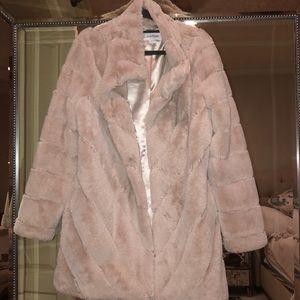 Calvin Klein Faux Fur in Blush